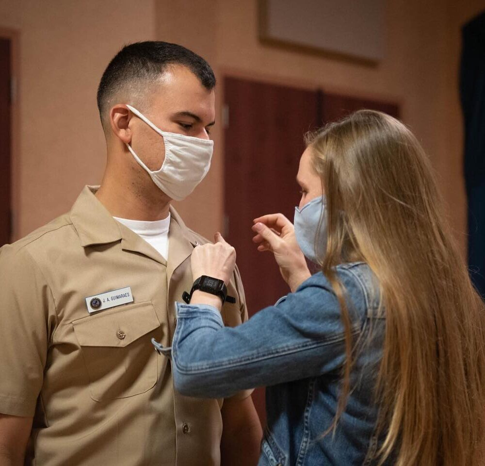 The United States Navy Band pinning Ceremony